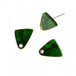 Πλέξι Ακρυλικό Σκουλαρίκι Τρίγωνο 12x13mm