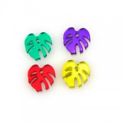 Plexi Acrylic Charm Leaf 13mm