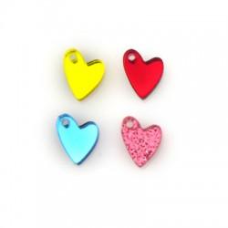 Πλέξι Ακρυλικό Μοτίφ Καρδιά 10x12mm