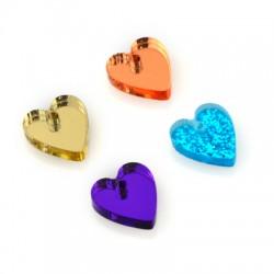 Plexi Acrylic Charm Heart 12x13mm
