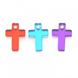 Plexi Acrylic Charm Cross 10x15mm
