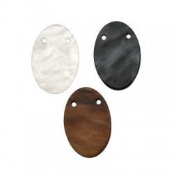 Plexi Acrylic Pendant Oval 20x30mm
