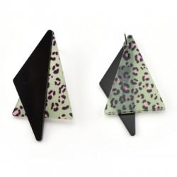 Plexi Acrylic Earring Geometrical Triangle 33x55mm