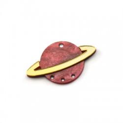 Ciondolo in Plex Pianeta Saturno 44x27mm