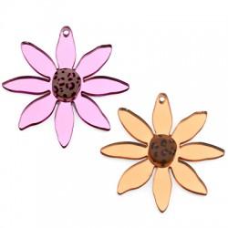 Plexi Acrylic Pendant Flower 59x60mm