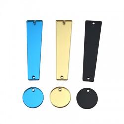 Pendentif point d'interrogation en Plexiacrylique 14x55mm +18mm (set)