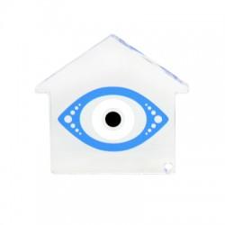 Πλέξι Ακρυλικό Επιτραπέζιο Σπίτι Μάτι 75mm