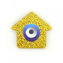 Πλέξι Ακρυλικό Μοτίφ Σπίτι Μάτι 50x46mm