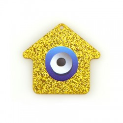 Plexi Acrylic Pendant House w/ Eye 50x45mm
