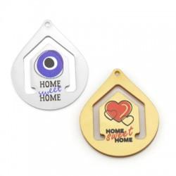 Πλέξι Ακρυλικό Μοτίφ Σταγόνα Σπίτι Καρδιά 42x60mm
