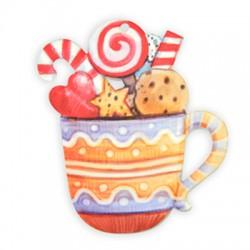 Plexi Acrylic Pendant Cup Candy 68x75mm