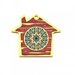 Plexi Acrylic Pendant House 43x37mm