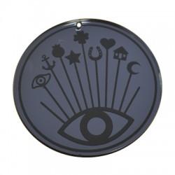 Plexi Acrylic Pendant Round Eye/Star/Horseshoe 90mm