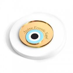 Πλέξι Ακρυλικό Μοτίφ Στρογγυλό Μάτι Ευχές 89mm