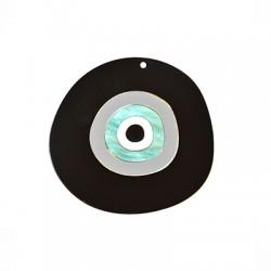 Plexi Acrylic Pendant Round Irregular Eye 63x59mm