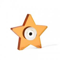 Πλέξι Ακρυλικό Επιτραπέζιο Αστέρι Μάτι Τρύπα 69x68mm