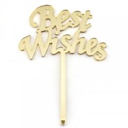 """Πλέξι Ακρυλικό Διακοσμητικό """"Best Wishes"""" 122x175mm"""