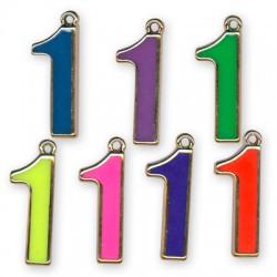 Ακρυλικό Επιμεταλλωμένο Μοτίφ με Σμάλτο Αριθμός ''1''
