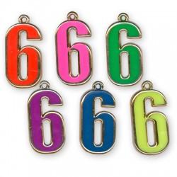 Ακρυλικό Επιμεταλλωμένο Μοτίφ με Σμάλτο Αριθμός ''6''