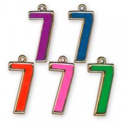 Ακρυλικό Επιμεταλλωμένο Μοτίφ με Σμάλτο Αριθμός ''7''
