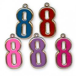 Ακρυλικό Επιμεταλλωμένο Μοτίφ με Σμάλτο Αριθμός ''8''