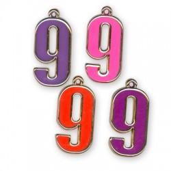 Ακρυλικό Επιμεταλλωμένο Μοτίφ με Σμάλτο Αριθμός ''9''