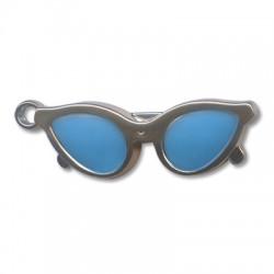 Ciondolo Occhiali da Sole in Argentone CCB Smaltato 65.3x20.4mm