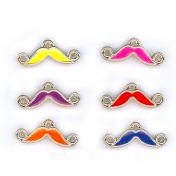 Ccb Enamel Moustache 25x7mm