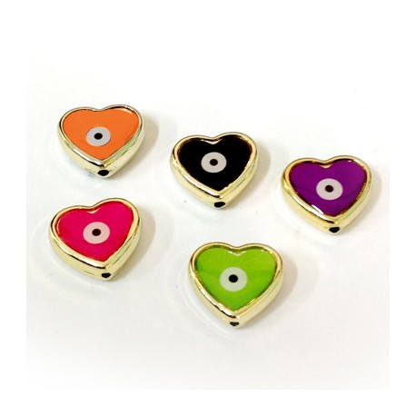 CCB Enamel Heart Eye 16x17mm