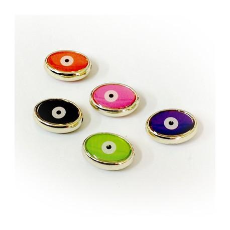CCB Enamel Oval Eye 13x17mm
