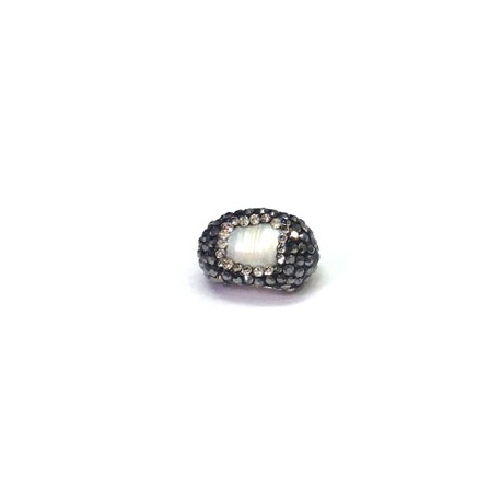 Fresh Water Pearl Bead Irregular with Stones ~12x18mm