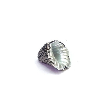 Fresh Water Pearl Bead Irregular with Stones ~18mm