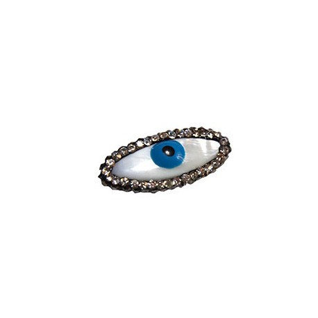 Shell Slider Eye with Enamel and Stones 12x26 (Ø 1mm)
