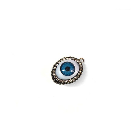 Acrylic Connector Eye with Stones 15x17mm