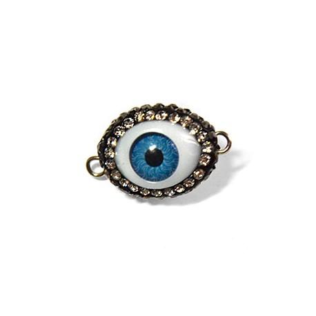 Acrylic Connector Eye with Stones 16x20mm