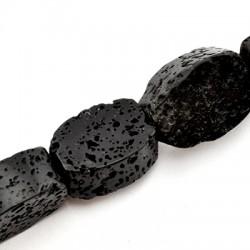 Semiprecious Stone Lava Bead Oval 15x20mm