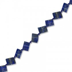 Lapis Square 6mm(with Diagonal Hole)(40cm length-approx.39 pcs/str)