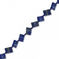 Lapis Square 6mm(with Diagonal Hole)(40cm length-approx.39 pcs/str)