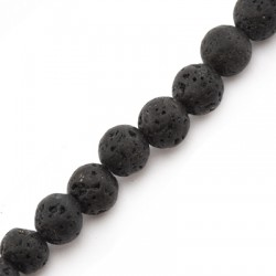 Perlina di Pietra Lavica 8mm (~40pz/filo)