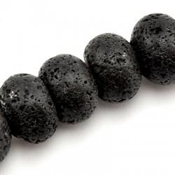 Ημιπολύτιμη Πέτρα Λάβα Χάντρα18mm/13mm (31τμχ)