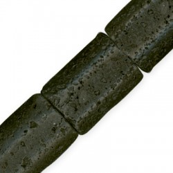 Ημιπολύτιμη Πέτρα Λάβα Χάντρα 25x35mm/12mm (11τμχ)