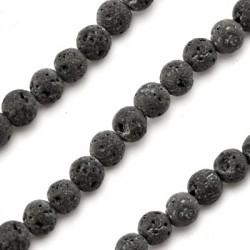 Lava Coloured Bead Round 6mm (Ø 0.5mm)