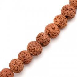 Perle Lave Colorée 8mm (Ø 0.8mm)