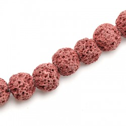 Perle Lave Colorée 10mm / Trou 0,8mm