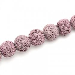 Lava Coloured Bead Round 10mm (Ø 0.8mm)