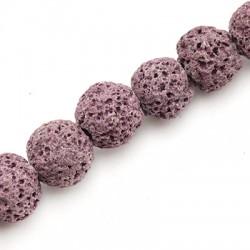 Lava Coloured Bead Round 12mm (40cm/string)