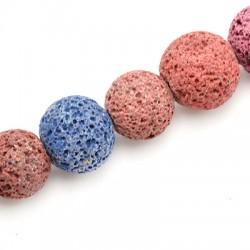 Perle Lave Colorée 14mm (40cm/Fil)