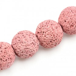 Lava Coloured Bead Round 16mm (40cm/string)