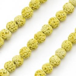 Perle en Lave colorée ~6mm (~63pcs/fil)