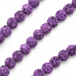 Lava Coloured Bead Round (~6mm) (~63pcs/string)